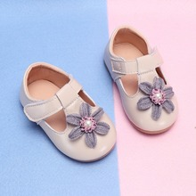 Детская кожаная женская обувь для новорожденных девочек, мокасины на мягкой подошве, детские туфли для принцессы, милая обувь с цветочным рисунком