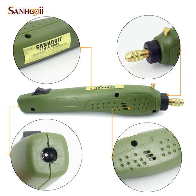 SANHOOII Rotary Power Tool 16000rpm Portable Electric Drill 0.5-3.15mm Drilling Accessories For dremel Grinding Electric Drill 3