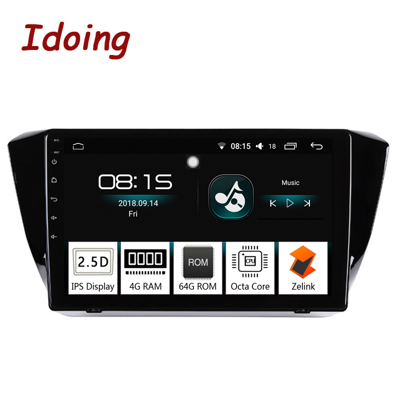 Idoing 10 2 1Din Car Android 8 0 Radio Multimedia Player 2 5D IPS 4G 64G