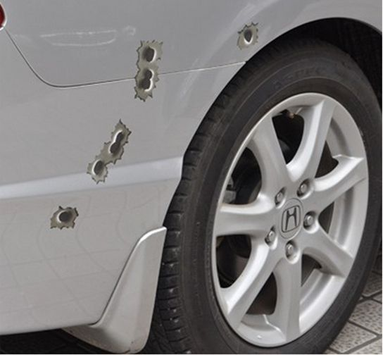 1pcs 24/6/15 3D Car Styling Fake Bullet Holes Funny Motorcycle/Car Decals Sticker Personality Vinyl Decal Accessories