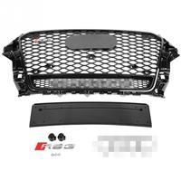 RS3 Quattro Стиль спереди Спорт Шестигранная сетка соты капот Гриль черный глянец для Audi A3S3 8 В 13 14 15 16 авто Запчасти для авто