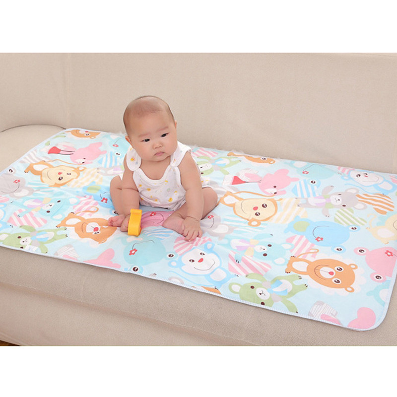 все цены на 3 Layers Baby Changing Pads Waterproof Changing Mat Cover Newborn Baby Diaper Pad For Infant Child Bed Crib Sleeping