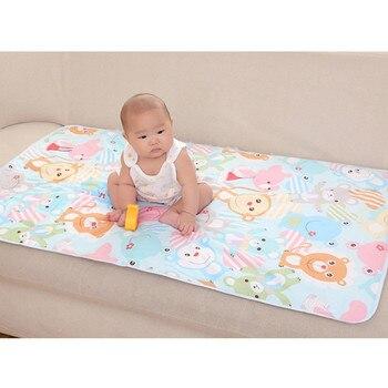 150bb84f8 3 capas bebé cambiar las almohadillas impermeable cambiar Mat recién nacido bebé  almohadilla de pañal para bebé niño cama cuna de dormir