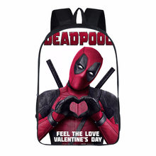 New Fashion Marvel 3D Printed Deadpool 2 Backpack Teenager Manga Style Student Bag A Wonderful Gift From The Movie Fans(China)
