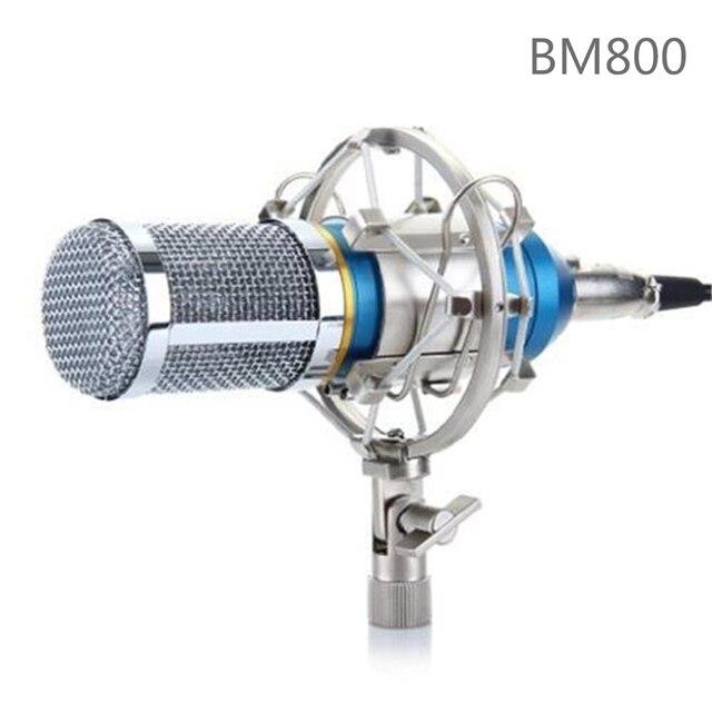 מקצועי הקלטת מיקרופון הקבל BM-800 אודיו סטודיו ווקאלי Cardioid מיקרופון KTV קריוקי מיקרופון + הלם הר