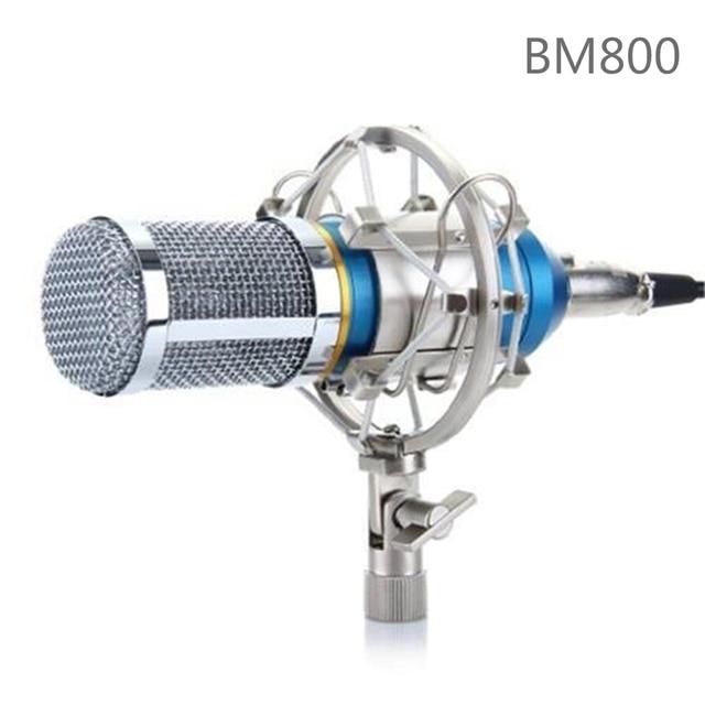Professional BM-800 Condenser Microphone Cardioid Audio Studio Vocal Recording Mic KTV Karaoke Microphone + Metal Shock Mount