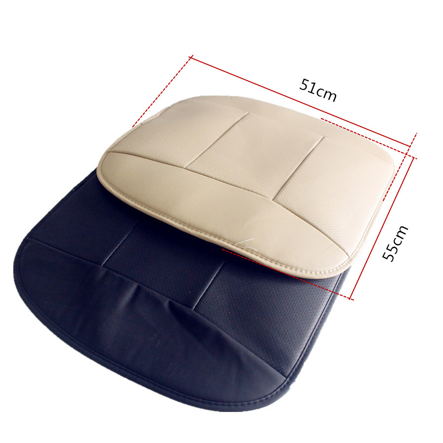 Image 5 - 2pcs PU Leather Front Car Cover Seat  Black Seat Protector Cushion Black Bamboo Charcoal Automotive interior accessories-in Automobiles Seat Covers from Automobiles & Motorcycles
