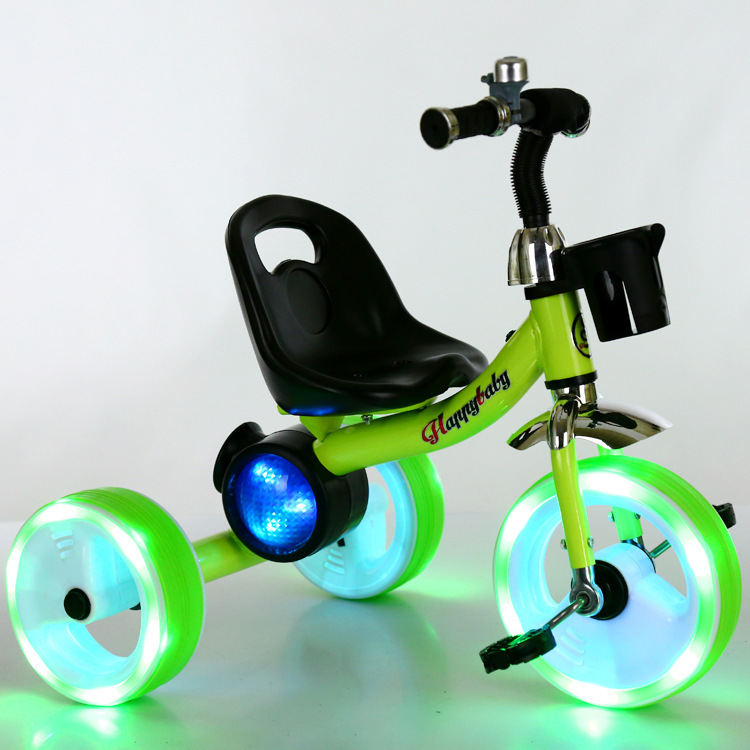 Roues Flash enfants Tricycle vélo bébé chariot Buggy 1-3-6 ans Tricycle pour enfants bébé poussette 3 roues vélo poussette