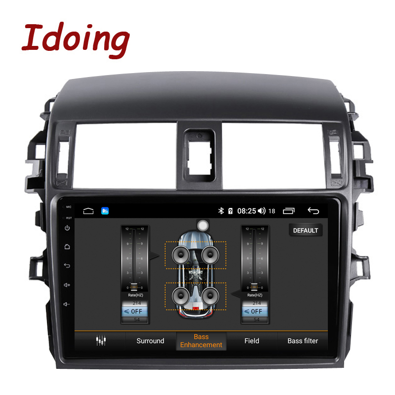 "Excellent Idoing 9""Car Multimedia Video Player Navigation GPS Android8.1For Toyota Corolla E150 140 2008-2013 Navigation Radio NO 2DIN DVD 3"