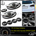 7 шт. 3D Эмблемы С двухсторонней Ленты На Спине Герба Знак (Спереди и Сзади Рулевого Колеса) для 2010-2015 Hyundai GENESIS COUPE