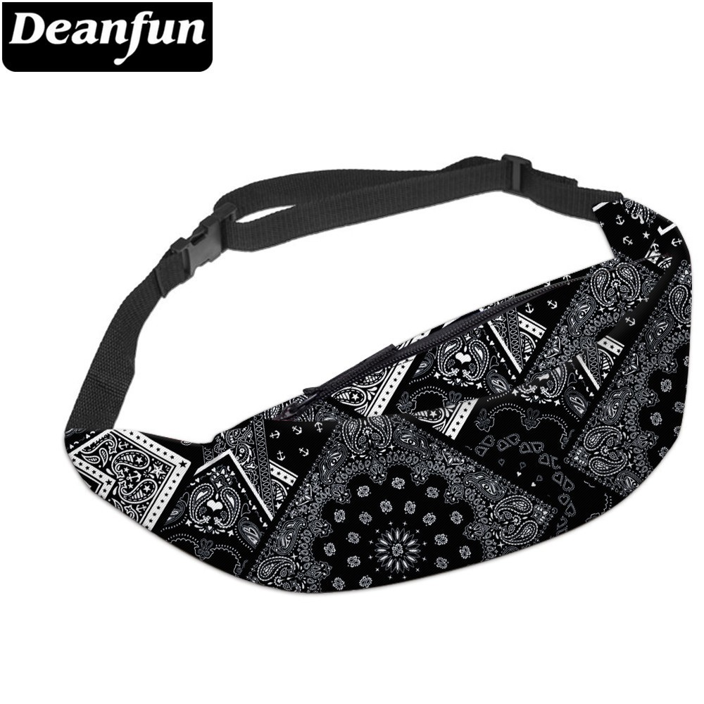 Deanfun 3D Printed Waist Bags Fanny Pack  With Adjustable Band For Women Workout YB9