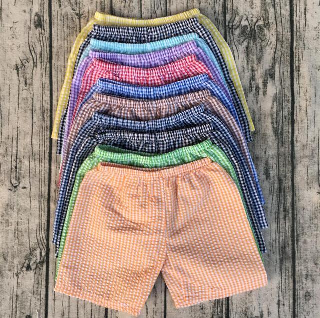 03073237dc6f54 R$ 413.53 |Crianças por atacado de roupas baratas online boutique de roupas  de bebê meninos shorts seersucker em Calções de Mãe & Kids no ...