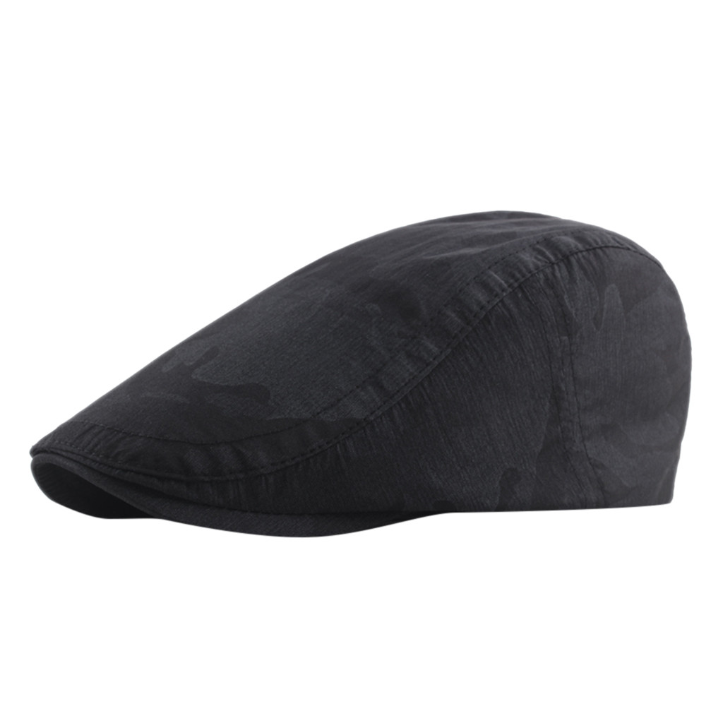Men Women Black Flat Cap Driver Retro Vintage Soft Boina Casual Baker Newsboy Caps Outdoor Waterproof Cabbie Hat Chapeau