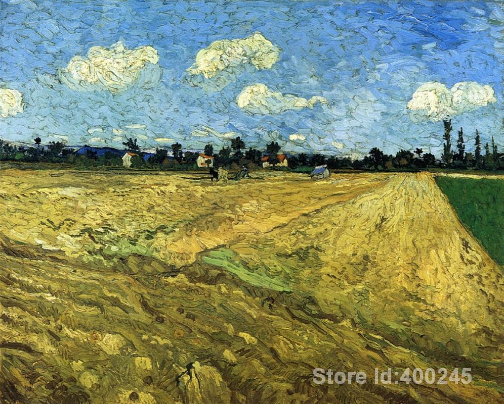 Best Art Reproduction The Ploughed Field Vincent Van Gogh Painting for sale hand painted High quality
