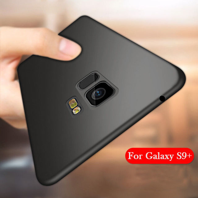 innovative design 7b337 95f86 US $1.39 30% OFF|Phone Case For Samsung Galaxy S9 Luxury Ultra Slim Matte  Soft TPU Silicon Full Cover Protective Cases For Samsung S9 Plus Coque-in  ...