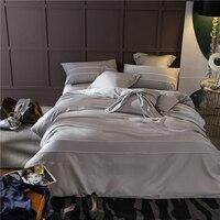 4 5 Pcs Egypt Cotton Simple Style Pure Bedding Set 12 Colors High Quality Duvet Cover
