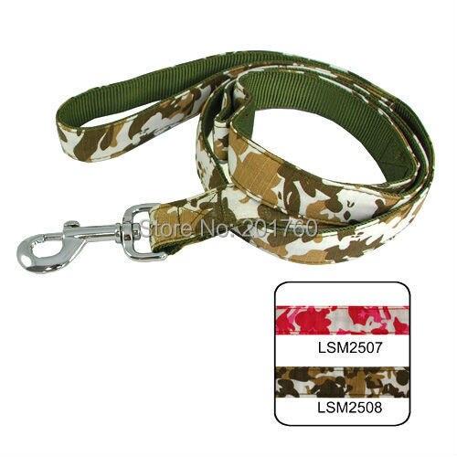 2.5cm Lively Pet Dog Battle Fatigues Dual Use Lead (2 Colors) 2pcs/lot free shipping LSM2507