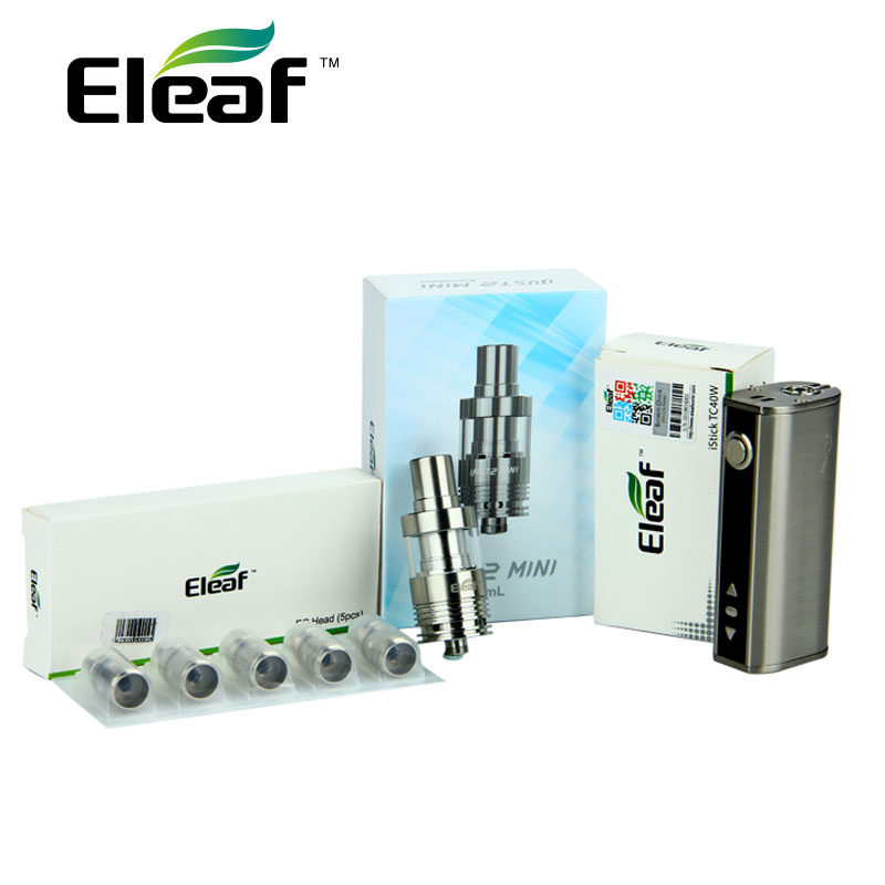Original 40W Eleaf IStick TC 40W Full kit 2600mAh Battery with 2ml Just 2 Mini Tank Atomizer & 5pcs 0.5ohm EC Coils Vape E-Cig цена и фото