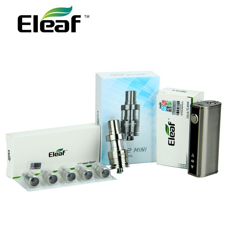 Original 40W Eleaf IStick TC 40W Full kit 2600mAh Battery with 2ml Just 2 Mini Tank Atomizer & 5pcs 0.5ohm EC Coils Vape E-Cig цена и фото