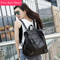 2017 New Women Black White Backpack PU Leather Fashion Preppy Style Shoulder Bag Big School Bag for Teenagers Girls Travel Sac