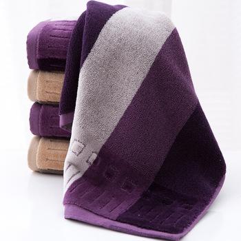 1 sztuka ręcznik do twarzy 100 bawełna sportowe ręczniki dla dorosłych kobieta mężczyzna Square34x34cm drukowane brązowy fioletowy ręcznik plażowy toalha tanie i dobre opinie WLIARLEO ROLL Zwykły Drukuj Gładkie barwione Face Towel 5 s-10 s Można prać w pralce Sprężone Quick-dry Tkane 100 Cotton FaceTowel