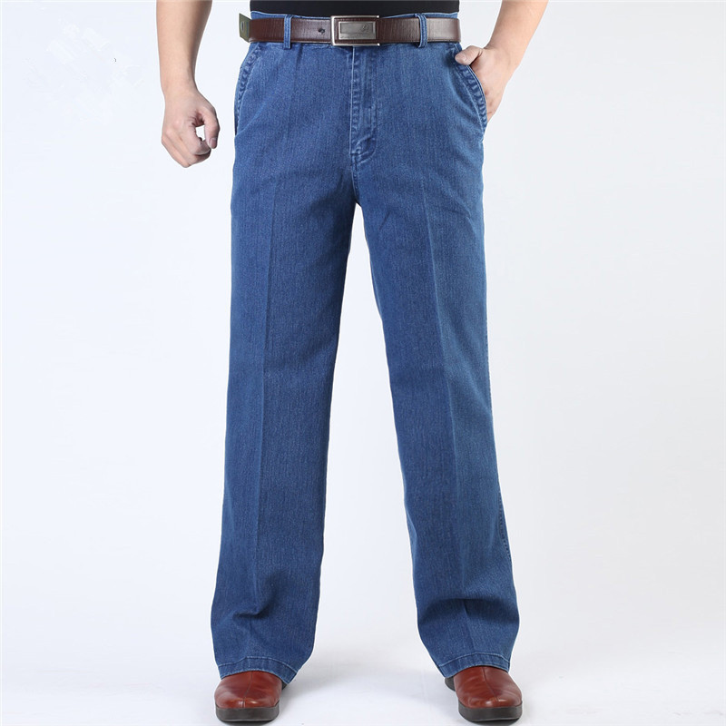 Casual Loose Long Pants Male Straight Jeans For Men
