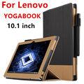 Caso para lenovo yoga book protective smart cover de couro falso livro 10.1 polegada pu protetor caso manga tablet para yoga cobre
