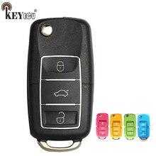 Keyecu (versão em inglês) x001 série colorida para v * w b5 estilo 3 botão chave remota universal para ferramenta chave vvdi