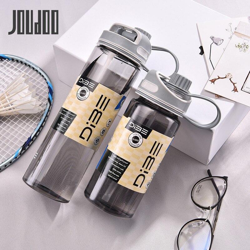 JOUDOO 500ml/600ml/700ml Outdoor Sport Water Bottle with Lids Straw Sports Camping Hiking Drinking Bottles Eco Friendly 35|Water Bottles|   - AliExpress