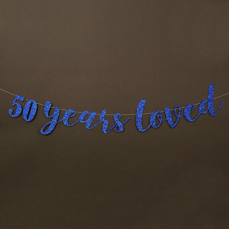 50 жыл өте жақсы көретін Glitter Banner 50th - Мерекелік және кешкі заттар - фото 4
