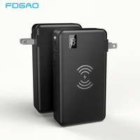 FDGAO Qi Wireless Charger 10000mAh Power Bank QC3.0 PD Type C Fast Travel Adapter For iPhone XS Max XR X 8 Samsung S10 S9 Xiaomi