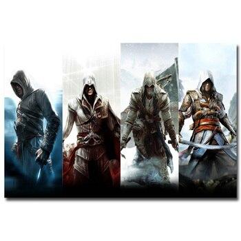 Шелковый Плакат Гобелен Кредо Убийцы Assassins Creed вариант 3