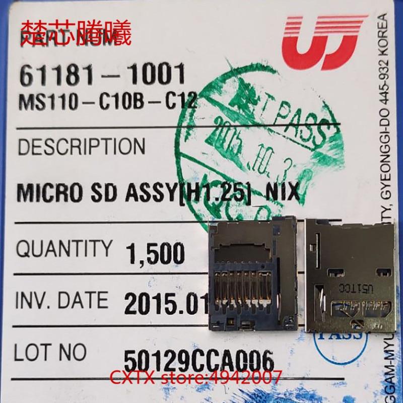 CHUXINTENGXI UJU MS110-C10B-C12 For Samsung 9300 TF SD Card Reader Connector Socket Holder Slot NEW Original SIM TF Card Reader