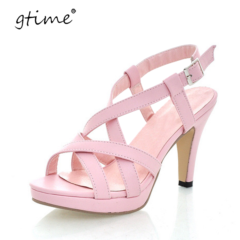 Gtime 2017 Fashion Gladiator Sandals Outdoor Casual Summer Shoes Ladies Female Open Toe Platform Shoes Woman Sandals ZWS195 women sandals shoes 2017 summer shoes woman gladiator wedges cool fashion rivet platform female ladies casual shoes open toe