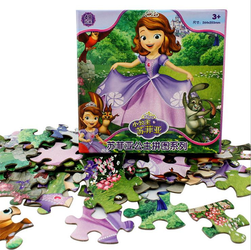 Toys & Hobbies Inventive Hot Disney Princess Children Gifts Romance Puzzle 48/60 Pieces Puzzle Toys Christmas Boy Girl Toy Birthday Gift High Quality Fine Workmanship