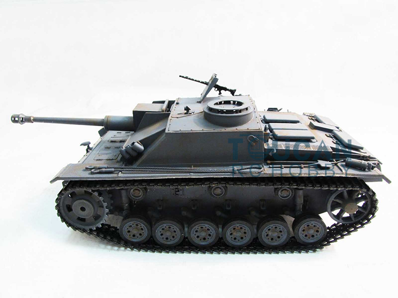 100% Metal Mato 1/16 Stug III RC Tank KIT Infrared Barrel Recoil Grey Color 1226 mato 100