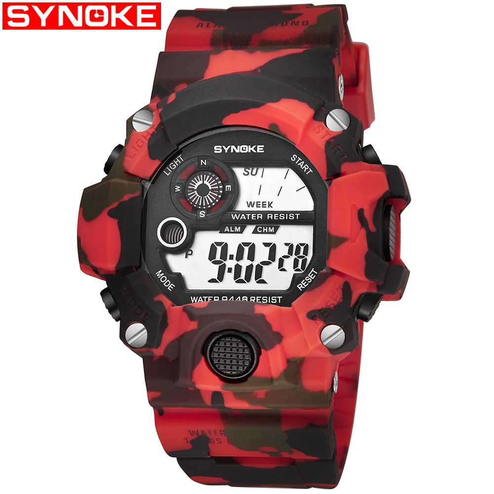 SYNOKE Military Sports Watches Men Alarm Waterproof Watch LED S Back Light Shock Digital Wristwatches Relogio MasculinoSYNOKE Military Sports Watches Men Alarm Waterproof Watch LED S Back Light Shock Digital Wristwatches Relogio Masculino