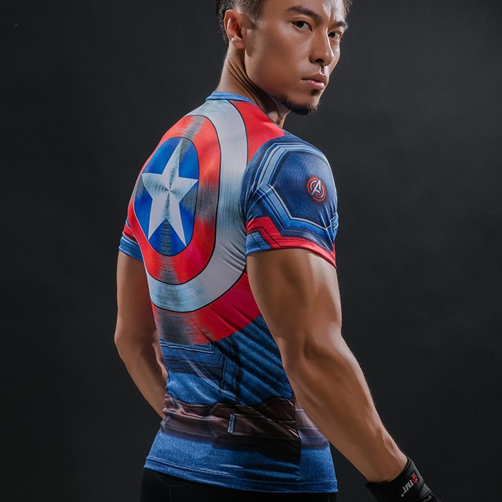 T Shirt Captain America Shield Civil War Tee 3D Printed T-shs
