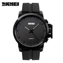 SKMEI 2016 New Brand Fashion Men Sports Watches Men's Quartz Clock Man Leather Strap Military Army Waterproof Wrist watch