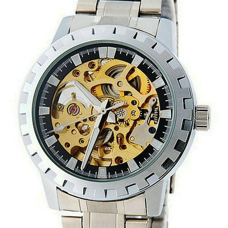 Top brand Hollow Automatic WatcheMechanical Skeleton Stainless Steel Band Auto Mens Wrist Watch Dropship Relogio relojes hombreTop brand Hollow Automatic WatcheMechanical Skeleton Stainless Steel Band Auto Mens Wrist Watch Dropship Relogio relojes hombre