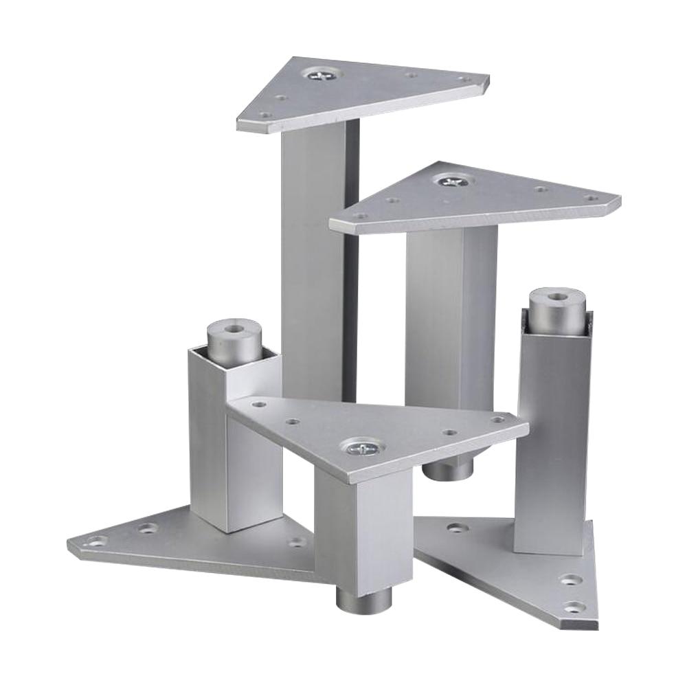 Aluminum Alloy Furniture Legs Adjustable Feet Silver Square Legs Cabinet Sofa Feet цены онлайн