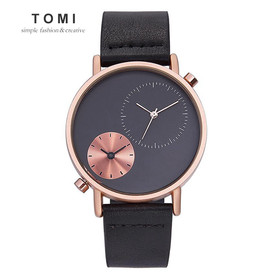 TOMI Luxury Brand Men Watch Carnival Watch New Men Business Sport Waterproof Quartz Watch Casual Leather Wristwatches tomi brand fashion men business watch clock leather strap quartz wristwatches sport waterproof watch mens black watches