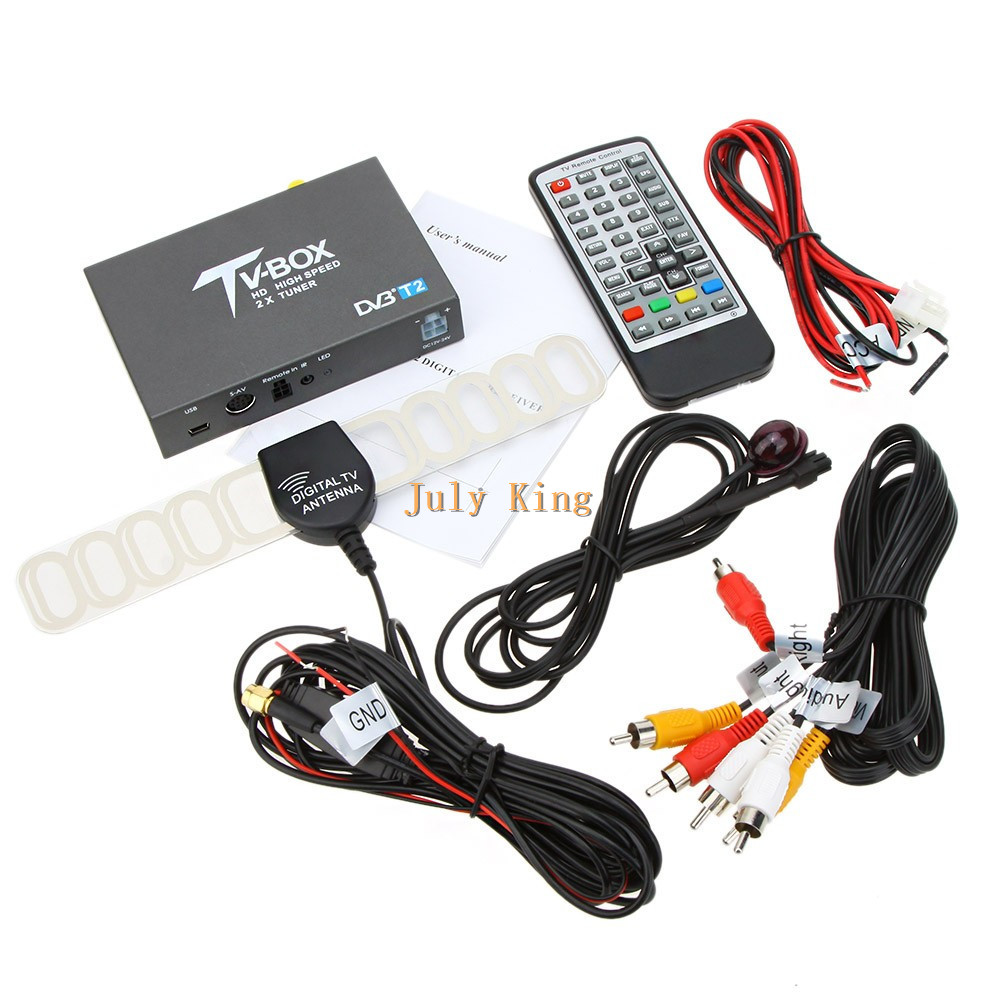 DVB-T2 Car Digital HD TV Receiver, DVB-T Receiver Single Antenna HDMI TV Tuner Support 160KM/H, MPEG-1 / -2 / -4, H.264 Decoder держатель h squared tvtray для apple tv 4 поколения