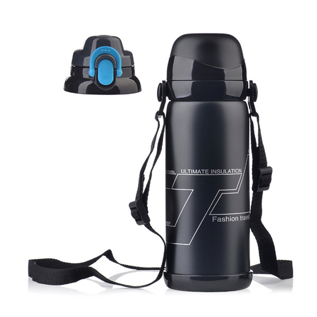H0229 Outdoor sports mountaineering hiking camping 304 Stainless steel mug 800ML vacuum sports insulation Cup