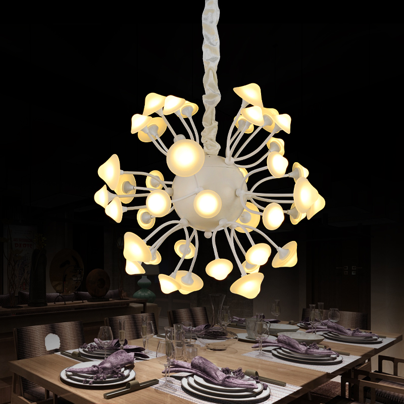 Personality droplight contracted and contemporary sitting room lamps and lanterns mushroom lamp LED lamp bedroom lamp restaurant contemporary and contracted restaurant droplight aluminum pendant lamp