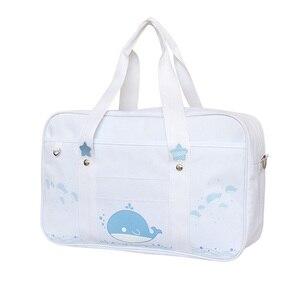 Image 2 - Bolso de uniforme JK de estilo japonés para mujer, bandolera de gato Kawaii a la moda, bolso de hombro de colegio Bolsa Bandolera de viaje