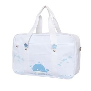 Image 2 - Styl japoński jk jednolity Cosplay torebka kobiety moda Kawaii kot Crossbody torba Anime szkolna torba na ramię podróżna torba kurierska
