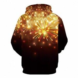 Image 2 - KYKU عيد الميلاد هوديي الرجال ثلاثية الأبعاد عيد الميلاد مخدر هوديس الألعاب النارية طباعة أنيمي البلوز حفلة ملابس رجالي البلوز شتاء جديد