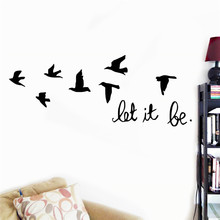 Black flying birds wall sticker
