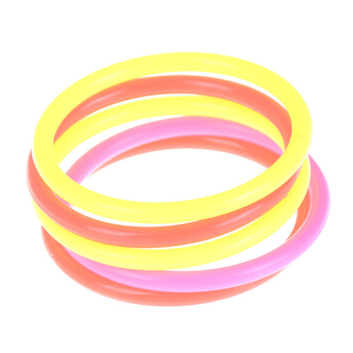 5pcs/set Funny Kids Outdoor Sport Toys Colorful Hoop Ring Toss Plastic Ring Toss Quoits Garden Game Pool Toy Outdoor Fun Set